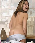 Teen babe ironing her panties from Andi Pink