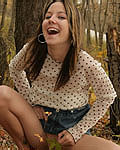 Andi Pink Pulls Down Her Jean Skirt - Picture 10