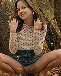 Andi Pink Pulls Down Her Jean Skirt - Picture 11