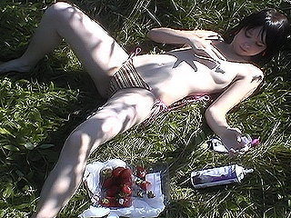 Ariel nude eating strawberries from Ariel Rebel