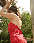 Sexy teen in red dress from Ariel Rebel