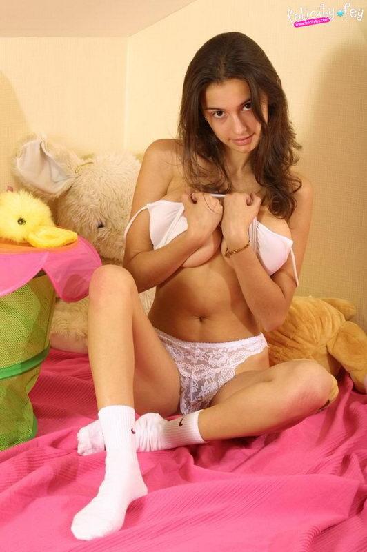 Felicity fey white panties
